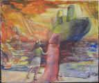 Lucie Ferliková, Pen-in-Nice, acrylic colour on fibreboard, 53x45cm,Chrismas 2007