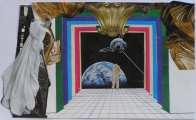 Lucie Ferliková, Castle, collage, 30x50cm, 2007