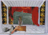 Lucie Ferliková, Down-silenced crime, collage, 31x42cm, 2007