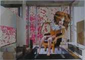 Lucie Ferliková, Illness, collage, 29,7x42cm, 2007