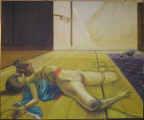 Lucie Ferliková, Indočína 1, akryl na plátně, 140x115cm, 2008