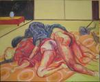 Lucie Ferliková, Japonerie, acrylic colour on canvas,140x115cm, 2008