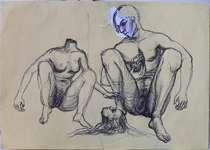 Lucie Ferliková, 21x29,5 cm, ballpoint pen on paper, 2009