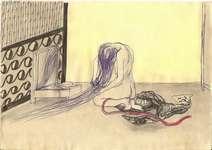 Lucie Ferliková, 21x29,5cm, centopen, tužka, akvarel na papíře, 2009