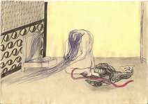 Lucie Ferliková, 21x29,5 cm, marker, pencil, watercolor on paper, 2009
