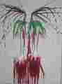Lucie Ferliková, Cycle ananas pierot, acrylic colour on canvas,140x190cm, 2006