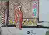 Lucie Ferliková, Ze série Červené šílení, tužka, propiska, fix na papíře, 21x29,5cm, 2006