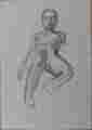 Lucie Ferliková, study of nude, pencil on paper, 21x29,5cm, 2002