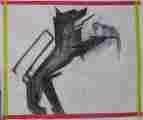 Lucie Ferliková, Z dipl. práce Amalgam: Hambana koktail, akryl na papíře, 175x150cm, 2005