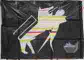 Lucie Ferliková, from dissertation Amalgam-Banana lamba, acrylic colour on paper, 330x210cm, 2005