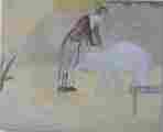 Lucie Ferliková, Z dipl. práce Amalgam: Se slonem, akryl na plátně 75x60cm, 2005