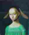 Lucie Ferliková, Infant, oil colour on canvas, 30x25cm, 2004