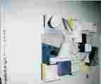 Lucie Ferliková, Sloní stezka, dřevo, polystyren, papír, syntetické barvy, 140x120x30cm,  2002