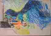 Lucie Ferliková, Letní série, papír, fix, 21x29,5cm, 2001