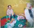 Lucie Ferliková, Poživačství 2, tempera na papíře, 175x160cm, 2001