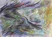 Lucie Ferliková, Studie vody, study of water, gioconda on paper, 50x70cm, 2001