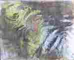 Lucie Ferliková, Studie vody, gioconda, akvarel na papíře, 30x25cm, 2001