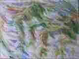 Lucie Ferliková, Studie vody, akvarel na papíře, 50x40cm, 2001