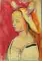 Lucie Ferliková, oil colour on paper, 61,5x43cm, 2000
