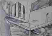Lucie Ferliková, Ze série Alenka, tužka na papíře, 21x29,5cm, 2000
