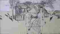 Lucie Ferliková, Ze série Alenka, tužka na papíře, 21x35cm, 2000