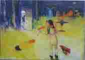 Lucie Ferliková, Ze série Alenka, pastel, anilinky na papíře, 123x86cm, 2000
