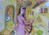 Lucie Ferliková, Ze série Alenka, tempera na papíře, 142x106cm, 2000