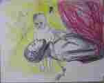 Lucie Ferliková, from series Alice, pencil, gioconda on paper, 25x30cm, 2000