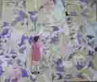 Lucie Ferliková, Ze série Alenka, olej na papíře, 35x40cm, 2000