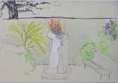 Lucie Ferliková, Memory of 1.May, fix, pen, marker on paper, 21x29,5cm, 2007